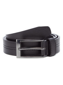 Black PU Centre Stitch Belt