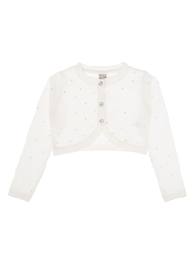 Girls Cream Embellished Bolero (3-12 years)