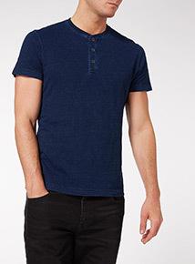 Navy Granded T-Shirt