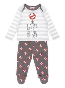 Grey Halloween Ghostbuster Pyjama Set (0-24 months)
