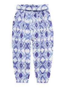 Navy Tie Dye Hareem Trousers (3 - 12 years)
