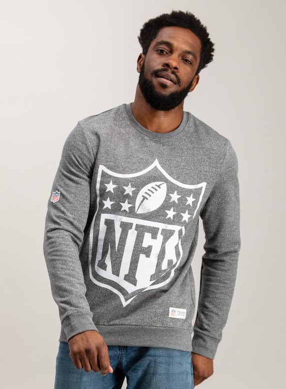9f94f1d72457 License   Character Shop NFL Shield Grey Crew Neck Sweatshirt