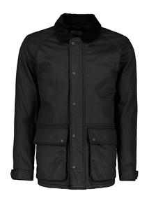 Black Corduroy Collar Jacket