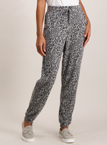 Grey Animal Print Super-Soft Joggers