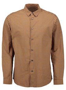 Ochre And Grey Regular Fit Check Shirt