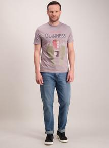 Guinness Grey Vintage Poster T-Shirt