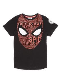 Black Spiderman Tee (3-12 years)