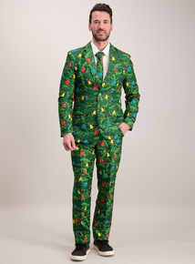 Online Exclusive Green Christmas Tree & Baubles Suit