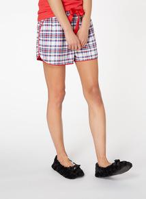 Check Pyjama Shorts