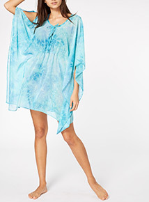Blue Tie Dye Kaftan Dress