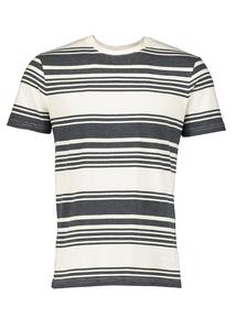 Cream & Navy Blue Striped T-Shirt