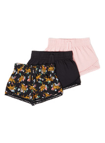 3 Pack Multicoloured Shorts (3-14 years)