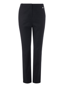Black Tapered Textured Trousers