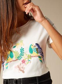 Premium Embroidered Bird T-Shirt