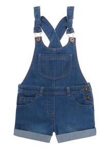 Girls Blue Denim Dungaree Shorts (3-12 years)