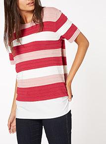 Multicoloured Ripple Stripe Jumper