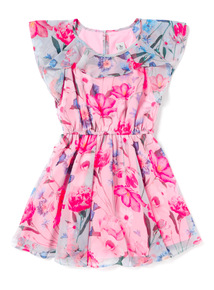 Multicoloured Floral Dress (3-14 years)