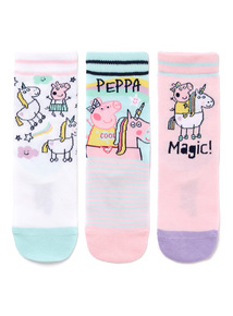 3 Pack Peppa Pig Unicorn Socks