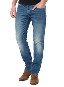Bright Wash Stretch Denim Jeans