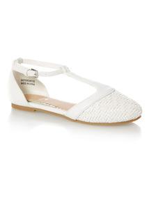Girls White Sandal