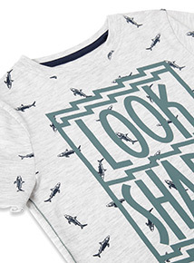 Grey 'Look Sharp' Print T-shirt (3-14 years)