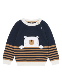 Blue Bear Jumper (0-24 months)