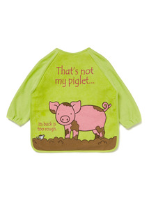 Multicoloured 'That's not my Piglet' Long Sleeve Bib