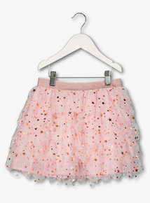 Pink Tulle Party Skirt (9 Months - 6 Years)