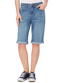 Light Denim Bermuda Shorts