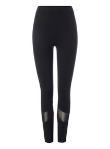 Black Extra Mesh Panel Leggings