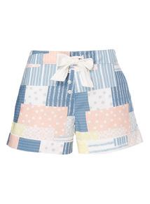Patchwork Pattern Shorts