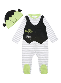 Little Monster Sleepsuit And Hat (0 - 24 months)