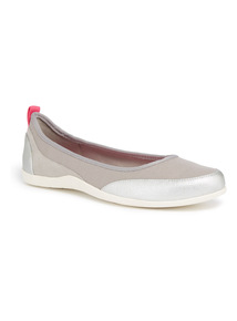 Sole Comfort Silver Slip On Shoes