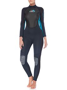 Ladies Turquoise Full Wetsuit Teal