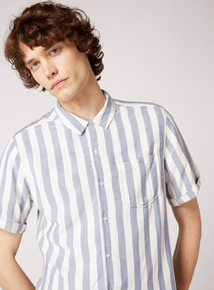 GFW Revere Collar Bowling Stripe Slim Fit Shirt