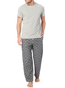 Grey Marl Snowflake Pyjamas