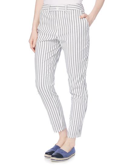 White Stripe Chino Trousers