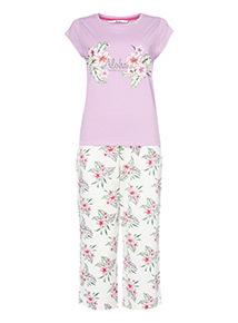 Purple Aloha Pyjama Set