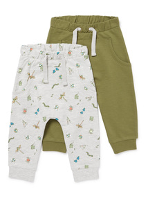 2 Pack Multicoloured Joggers (0-24 months)