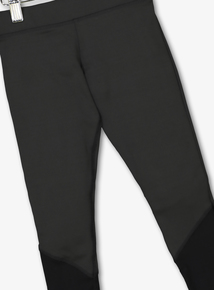 36268f27 Black Mesh Detail Dance Leggings (3-14 years)