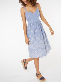 Gingham Embroidered Dress