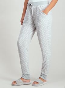 Grey Spot Harem Pyjama Bottoms