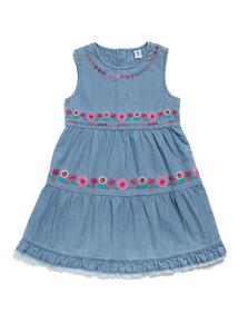 Denim Embroidered Dress (9 months-6 years)