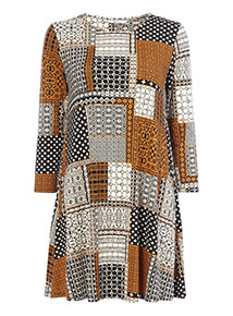 Multicoloured Patch Work Tunic