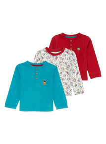 Boys Multicoloured Tees (0-24 months) 3 Pack