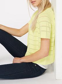 Stripe Cropped Cardigan