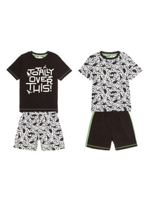 Totally Over This PJ Set 2 Pack (4 - 14 years)