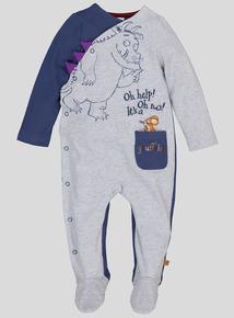 The Gruffalo Blue & Grey Long Sleeved Non-Slip Sleepsuit ( Newborn - 24 Months)
