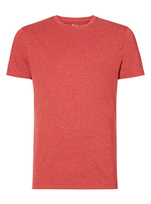 Red Marl Crew Neck Tee