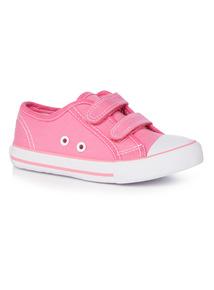 Velcro Strap Canvas Shoes (4 Infant - 4)